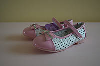Детские белые нарядные туфли на девочку Том.М 25 размер. Детская обувь весна-осень, нарядная обувь