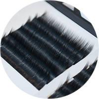 Ресницы для наращивания на ленте 12 мм, толщина 0,12 форма J., фото 1