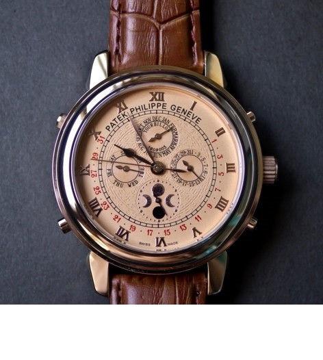 9129b2e2 ЧАСЫ НАРУЧНЫЕ PATEK PHILIPPE SKY MOON TOURBILLON , мужские часы,  механические часы, наручные часы