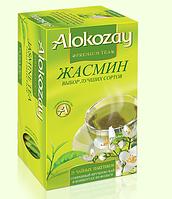 """Чай """"Alokozay"""" зеленый с жасмином 25 пак."""