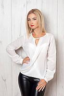 Женская шифоновая блуза с запахом, фото 1
