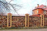 Забор из бута (бутового камня)