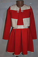 Платье с болеро на девочку 38 р красное
