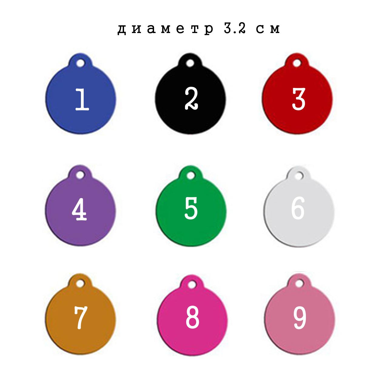 """Жетон - адресник для животных. Круглый. - Интернет-магазин """"GravPresent"""" в Харькове"""