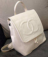 Рюкзак женский Chanel белый Шанель