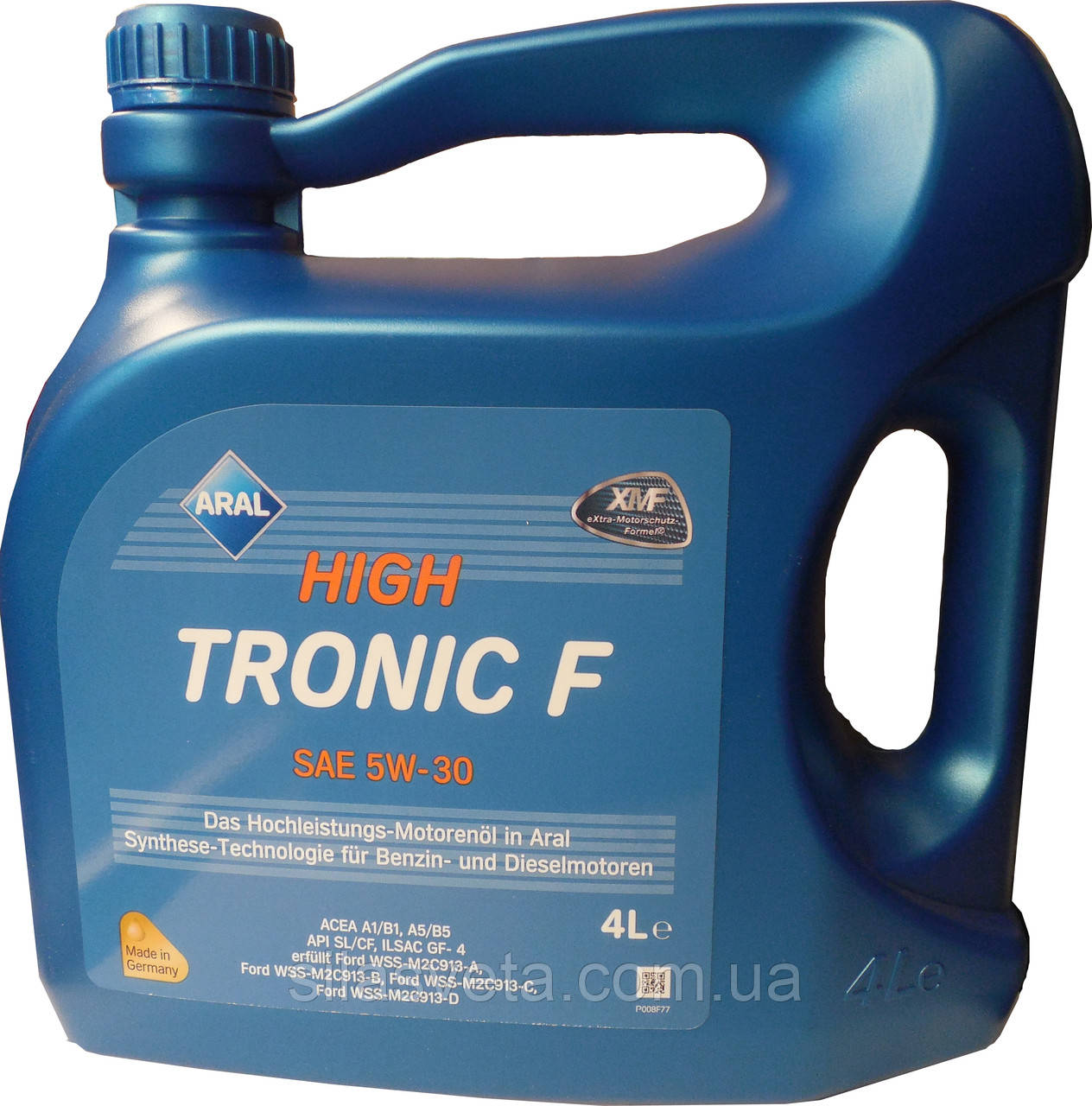 Автомобильное моторное синтетическое масло Aral High Tronic F 5W30 4L