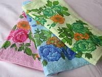 Цветы в букете 12 шт в уп. Размер 35х70 100% хлопок кухонное полотенце оптом большой