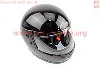 Шлем закрытый 825-2 S- ЧЕРНЫЙ глянец