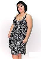 Шикарная ночная рубашка пеньюар Вензеля, хорошие батальные размеры 48 -56 для пышной красоты. Цвет черный.