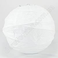 Бумажный диагональный фонарик, белый, 25 см