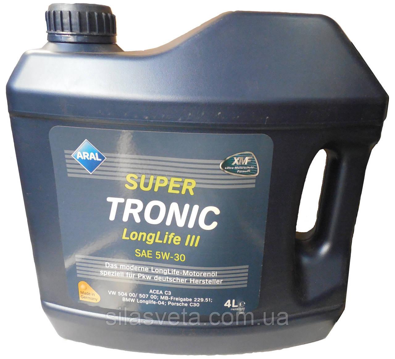 Автомобильное моторное синтетическое масло Aral SuperTronic Long Life III 5W30 60L