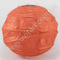 Бумажный диагональный фонарик, красный, 35 см