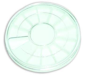 Круглая прозрачная тара для камешков YRE, Ø 100 мм, К02133/ОБ /94-0