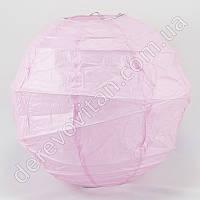Бумажный диагональный фонарик, светло-розовый, 35 см