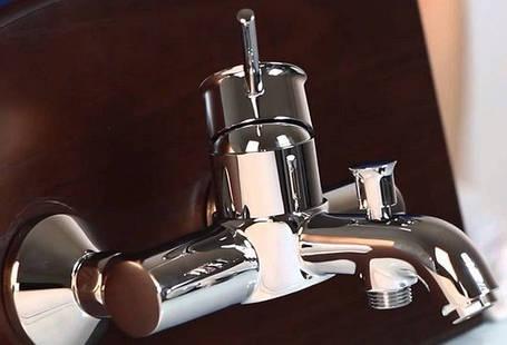 BauClassic Смеситель для ванны, автоматический переллючатель                 , фото 2