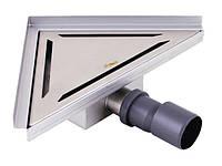 AQUAWORLD СТ002.25у | Трап угловой под плитку 100% нерж сталь   250*250 NX0103