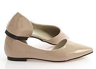 Удобные и модные женские туфли бежевого цвета  размер 39,40