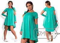 Расклешенное ассиметричное платье с-20078