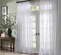 Тюль белая Вуаль, однотонная + высококачественный пошив