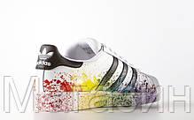 Мужские кроссовки Adidas Superstar Supercolor (Адидас Суперстар) белые, фото 2