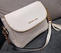 Женский клатч сумка через плечо Michael Kors белый