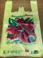 Пакет полиэтиленовый с рисунком, логотипом майка  28*47 Эко 18 кг