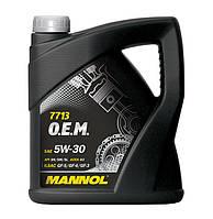 Оригинальное синтетическое моторное масло MANNOL 7715 O.E.M. for VW Audi Skoda 5L