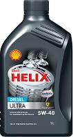 Автомобильное моторное масло синтетическое Shell Helix Diesel Ultra 5W40 1L