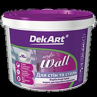 """Матовая акриловая краска Wall для стен и потолков TM """"DekArt"""", 20кг (белая)"""