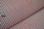 Ткань с мини-зигзагом 7 мм красного цвета №234, фото 4