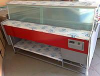 """Витрина холодильная """"Бизнес"""" без бокса охлаждаемого, 1200\800\1200, прямое стекло, +1...+8"""