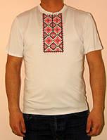 Мужская футболка-вышиванка Красный орнамент