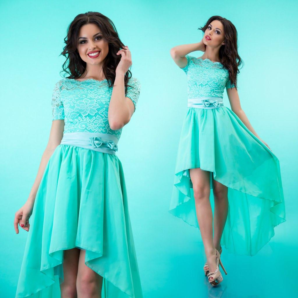 437dc2cd705 Платье гипюр и шифон мята - Оптовый интернет-магазин