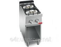 Газовая плита для готовки на медленном огне 2 колонки ( 12 кВт) на открытой базе
