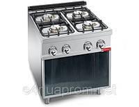 Газовая плита для готовки на медленном огне 4 колонки (26 кВт)на открытой базе