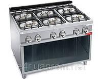 Газовая плита для готовки на медленном огне 6 колонки (24 кВт)на открытой базе