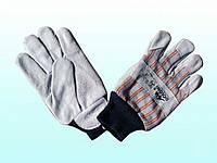 Перчатки рабочие-4504 комбинированные спилок+ткань,манжет вязанный Doloni