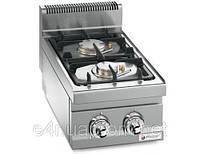 Газовая плита для готовки на медленном огне 2 колонки (9,5 кВт) на открытой базе