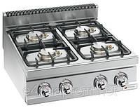 Газовая плита для готовки на медленном огне 4 колонки (21,5 кВт) на открытой базе