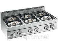 Газовая плита для готовки на медленном огне 6 колонки (33,5 кВт) на открытой базе