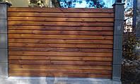 Секция забор деревянный лесенка  2,0х2,0м Сухая строганная доска, 1