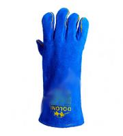 Перчатки рабочие-4508 краги сварочные с подкладкой синие 10 размер Doloni