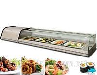 Суши-кейс  с округленным стеклом