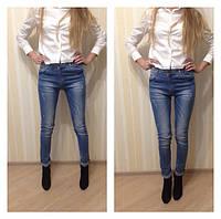 Zara (Зара) TOP SHOP  джинсы белые рваные