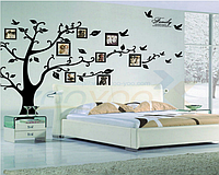 Наклейка на стену, виниловые наклейки, Фото дерево, фотодерево,  1м80см * 2м50см дерево с фоторамками