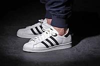 Женские кроссовки Adidas Superstar White-Black , фото 1
