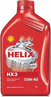 Автомобильное моторное масло минеральное Shell Helix HX3 15w-40 1L
