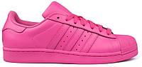 Женские кроссовки Adidas Superstar розовые
