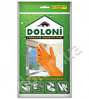 Перчатки рабочие-4544 латексные универсальные хозяйственные ,S Doloni