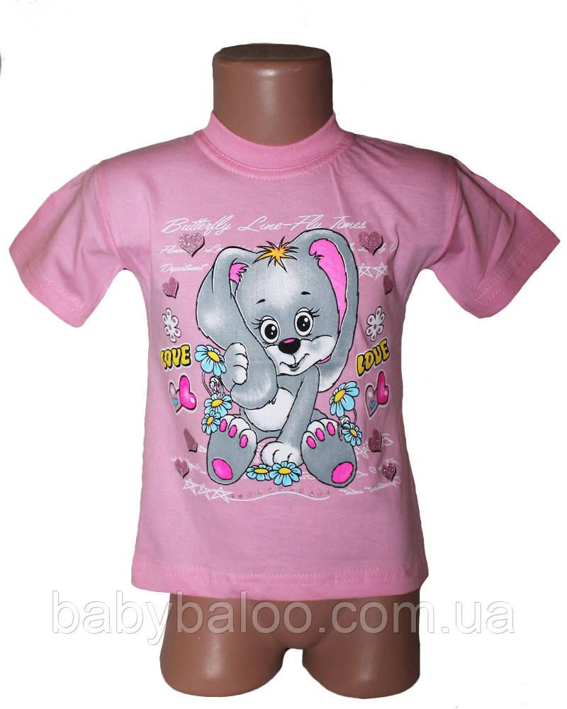 Модная футболка для девочки (от 1 до 3 лет)